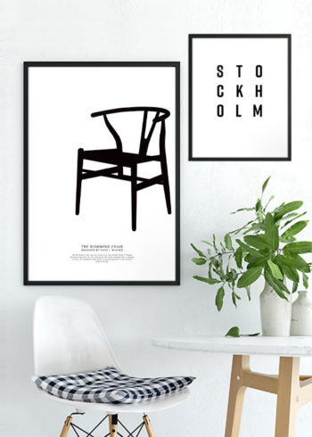 STOCKHOLM LETTER & WISHBONE CHAIR POSTERS
