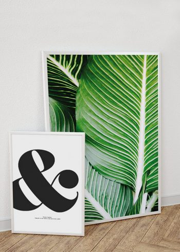 AND SIGN TYPEFACE & EXOTIC LEAVES POSTERS