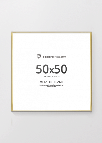 PICTURE FRAME GOLD 50x50