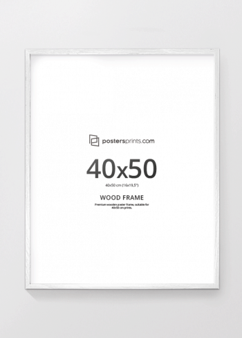 WHITE PICTURE FRAME 40x50