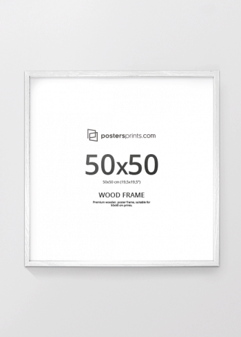 WHITE PICTURE FRAME 50x50