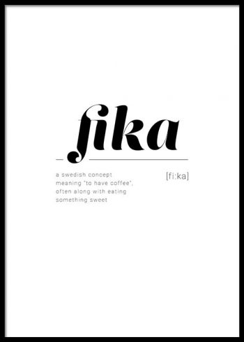 FIKA DEFINITION POSTER