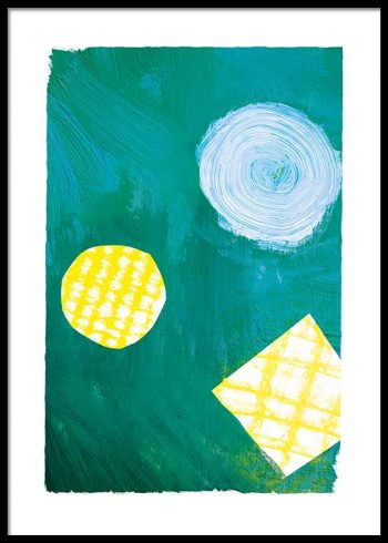 GREEN ABSTRACT PAINTING POSTER