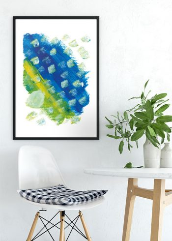DIAGONAL ABSTRACT PAINTING POSTER