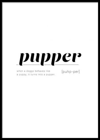 PUPPER DEFINITION POSTER