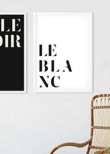 LE BLANC POSTER