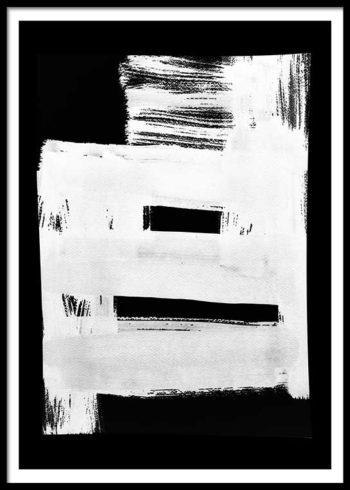 WHITE ON BLACK NO. 1 POSTER