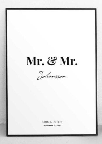 MR. & MR. PERSONLIG POSTER