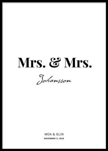 MRS. & MRS. PERSONLIG POSTER