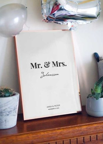 MR. & MRS. PERSONLIG POSTER